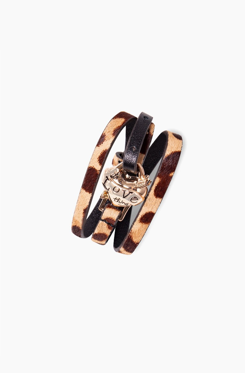 It's a love thing leather wrap bracelet