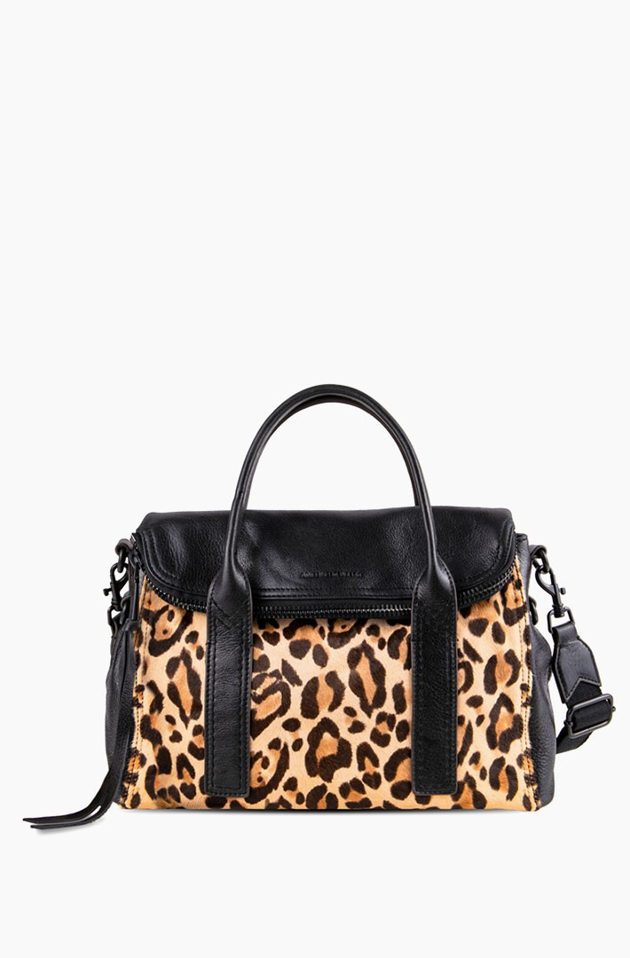 On My Way Satchel, Jungle Leopard Haircalf