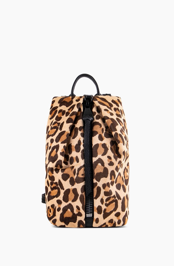 Mini Tamitha Backpack, Leopard Haircalf