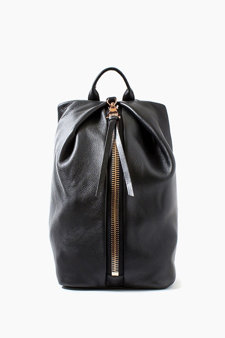 Tamitha Backpack, Black with Rose Gold