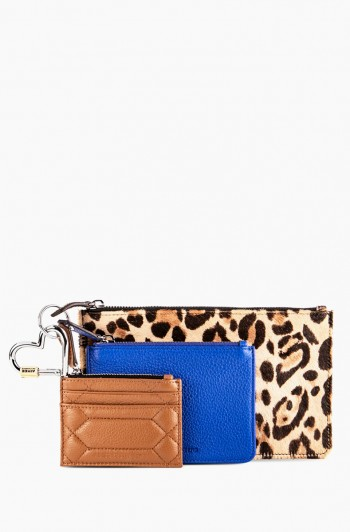 3 Piece Pouch Set, Jungle Leopard Haircalf
