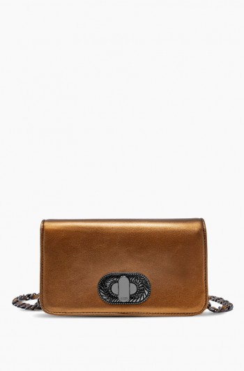 After Hours Crossbody, Metallic Bronze
