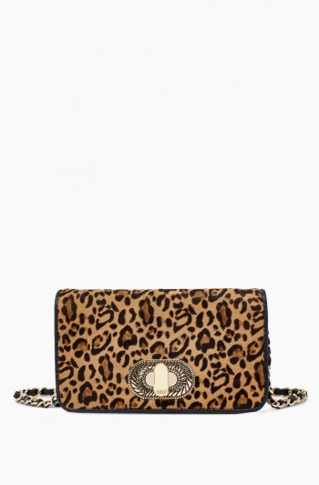 After Hours Crossbody, Small Leopard Haircalf