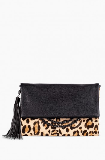 Bali Convertible Clutch, Jungle Leopard Haircalf