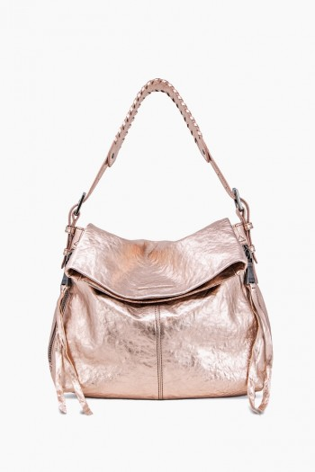 Bali Hobo, Light Rose Gold Metallic