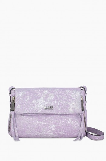 Bali 2 Crossbody, Soft Lavender Distressed Denim