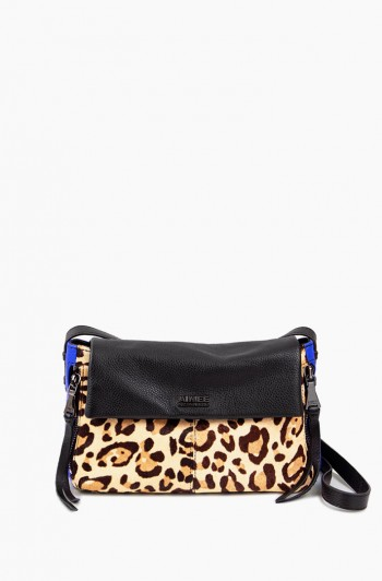 Bali Crossbody, Jungle Leopard Haircalf