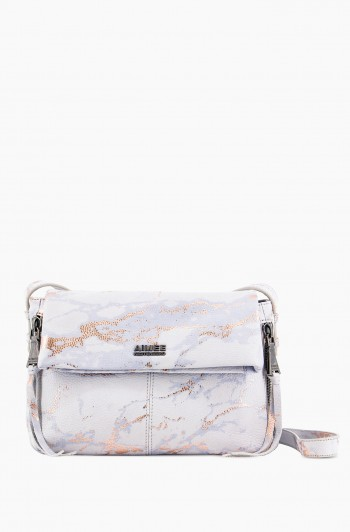 Bali 2 Crossbody, Light Rose Gold Marble