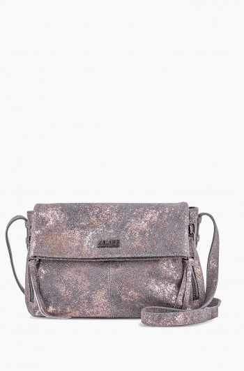 Bali 2 Crossbody, Rose Gold Distressed Denim