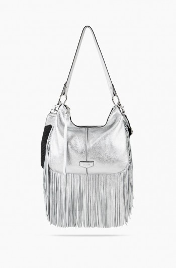 Beach Babe Hobo, Metallic Silver