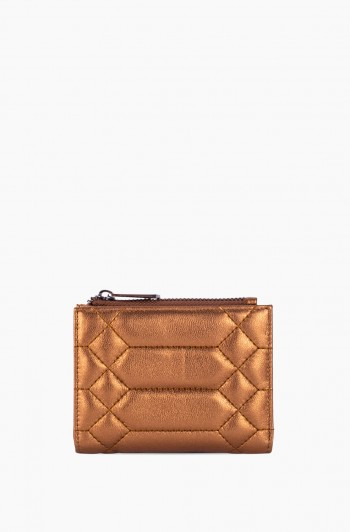 Dusk Till Dawn Bifold Wallet, Metallic Bronze