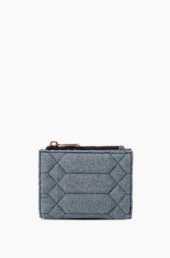 Dusk Till Dawn Bifold Wallet, Denim Leather