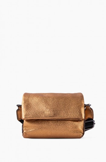Biggest Fan Stadium Crossbody, Metallic Bronze