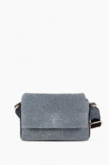 Biggest Fan Stadium Crossbody, Denim Leather