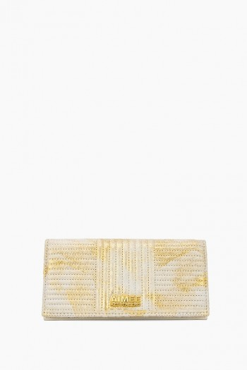 Biker Babe Bifold Wallet, Gold Brushed Metallic