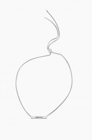 Breathe Pendant Necklace, Silver