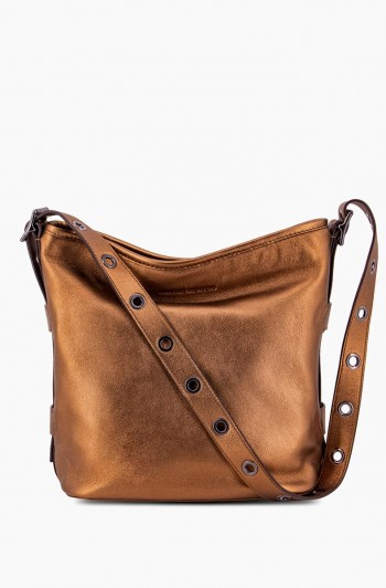 Buckle Up Bucket Hobo, Metallic Bronze