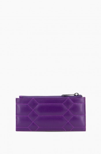 Dusk Till Dawn Slim Zipper Wallet, Violet