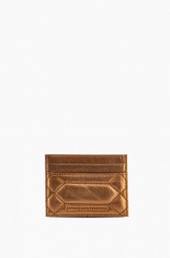 Dusk Till Dawn Card Case, Metallic Bronze