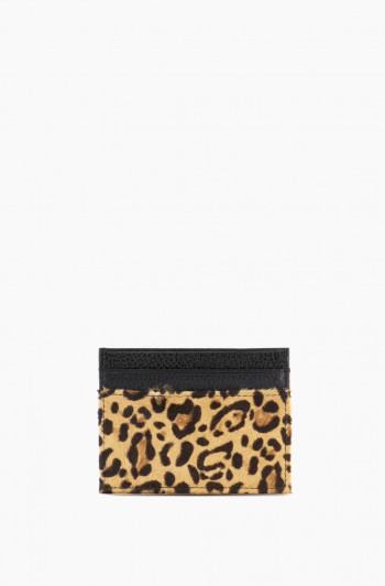 Dusk Till Dawn Card Case, Small Leopard Haircalf