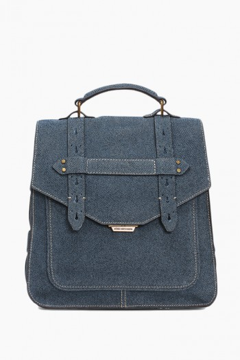 City Gypsy Backpack, Dark Denim Leather