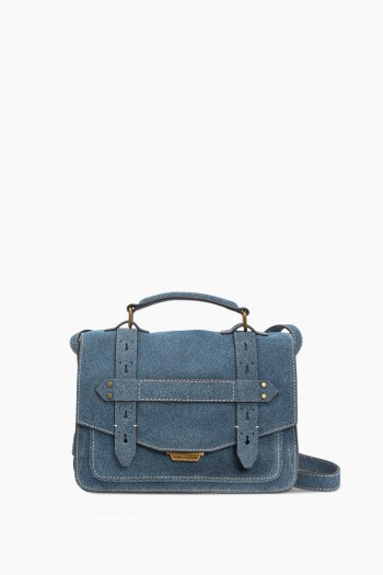 City Gypsy Crossbody, Dark Denim Leather