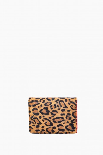 Coti Card Case Wallet, Leopard