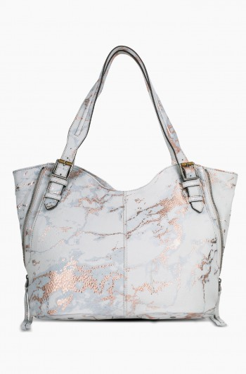 Dreamer Convertible Shopper, Light Rose Gold Marble