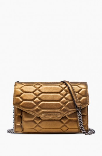 Dusk till Dawn Crossbody, Metallic Bronze