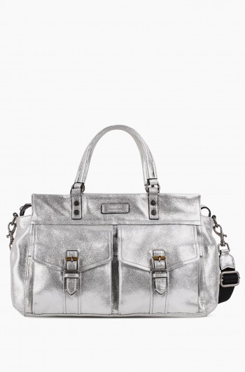 Feel the Energy Satchel, Mosaic Silver