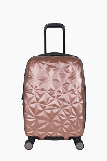 "Geo Chic 20"" Hardcase Carry-On, Rose Gold"