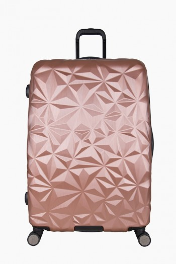 "Geo Chic 28"" Hardcase Carry-On, Rose Gold"