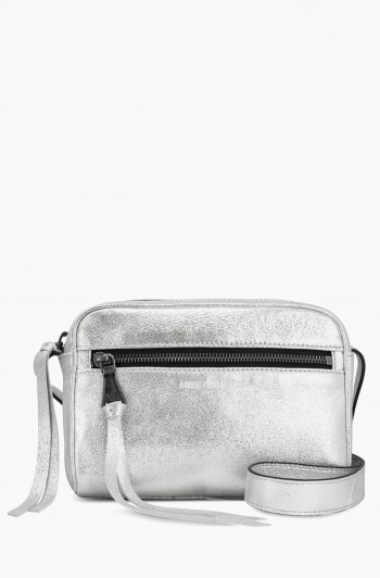 Going Places Crossbody, Mosaic Silver