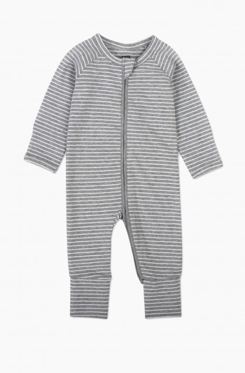 Yarn Dyed Striped Coverall, 3 Months