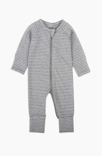 Yarn Dyed Striped Coverall, Newborn