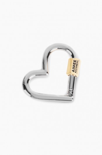 It's a Love Thing Heart Key Fob, Silver