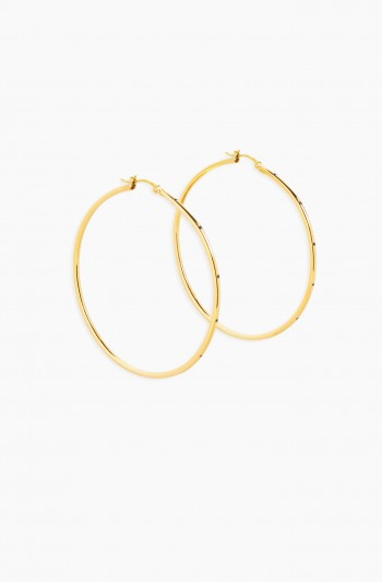 Pincatch Hoop Earrings, Gold