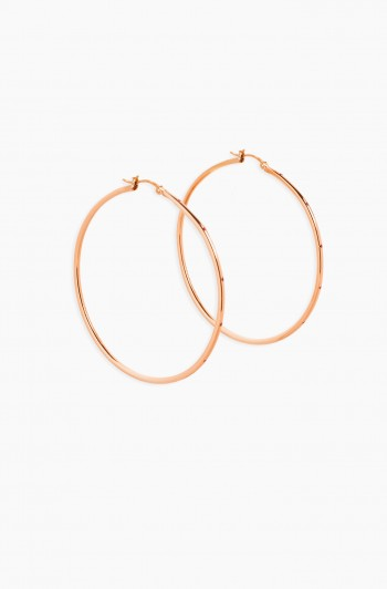 Pincatch Hoop Earrings, Rose Gold