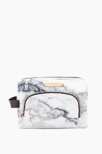 Isabela Large Cosmetics Case, Marble