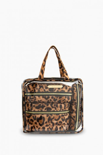 Ivy 4-Piece Cosmetics Set, Jungle Leopard