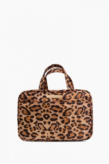 Jenna Hanging Travel Bag, Leopard