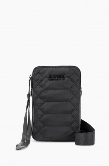 Nylon Just Saying Stadium Crossbody, Black