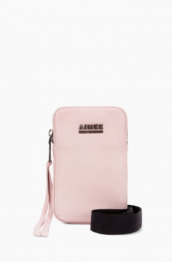 Just Saying Stadium Crossbody, Chalk Pink