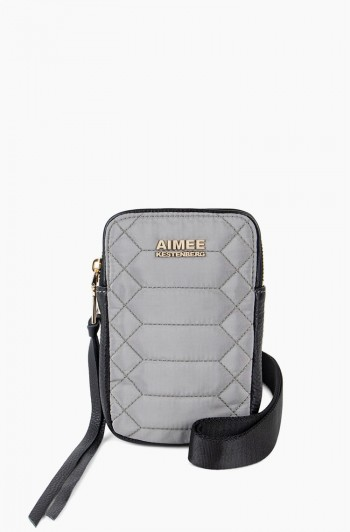 Nylon Just Saying Stadium Crossbody, Slate Grey