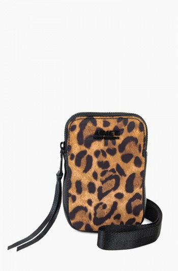 Nylon Just Saying Stadium Crossbody, Leopard Nylon