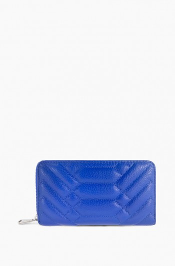 Scene Stealer Large Zip Around Wallet, Lapis Blue