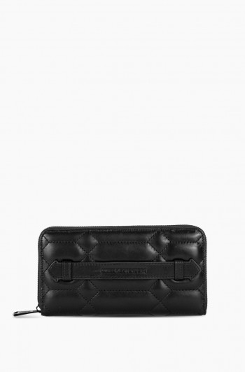 Dusk Till Dawn Large Zip Around Wallet, Black
