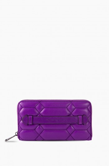 Dusk Till Dawn Large Zip Around Wallet, Violet