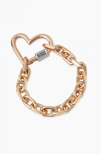 It's a Love Thing Heart Chain Bracelet, Gold