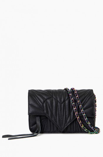 It's a Love Thing Quilted Crossbody, Black